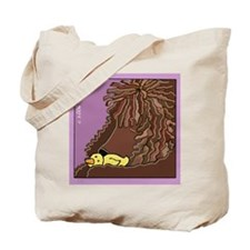 Sleeping Irish Water Spaniel Tote Bag