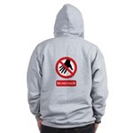 Do not touch sign Zip Hoodie