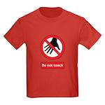 Do not touch sign Kids Dark T-Shirt