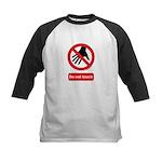 Do not touch sign Kids Baseball Jersey