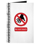 Do not touch sign Journal
