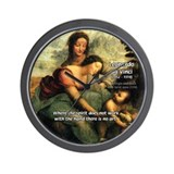 Leonardo da Vinci Art Spirit Wall Clock