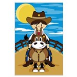 Cowboy Sheriff on Horse Poster (Large)