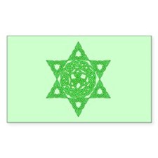 Celtic Star of David Rectangle Decal
