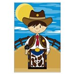 Cute Cowboy Sheriff Poster (Large)