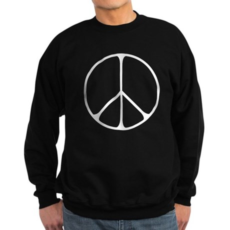 Elegant Peace Sign Men's Dark Sweatshirt