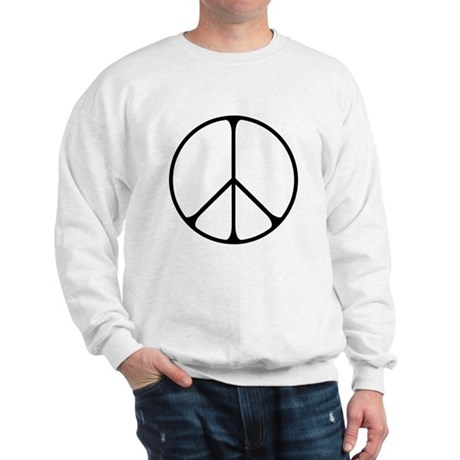 Elegant Peace Sign Men's Sweatshirt