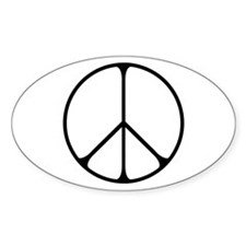 Elegant Peace Sign Decal