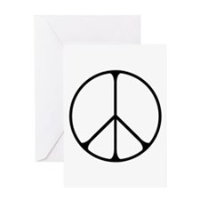 Elegant Peace Sign Greeting Card