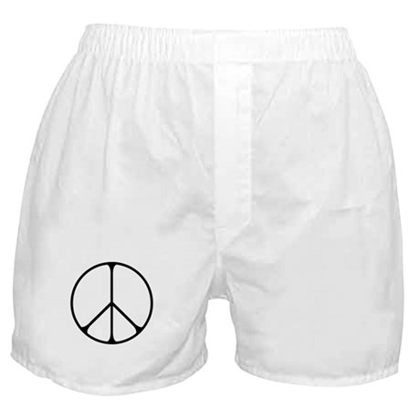 Elegant Peace Sign Boxer Shorts