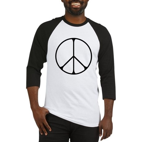 Elegant Peace Sign Men's Baseball Jersey