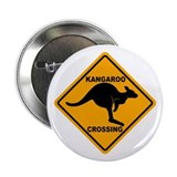 "Kangaroo Crossing Sign 2.25"" Button"