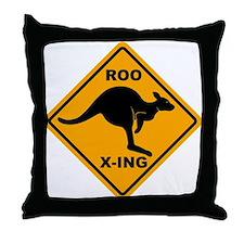 Roo X-ing Sign Throw Pillow