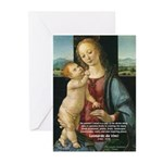 Leonardo da Vinci Madonna Greeting Cards (Package