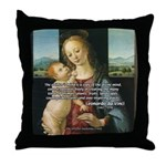 Leonardo da Vinci Madonna Throw Pillow