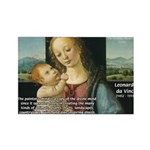 Leonardo da Vinci Madonna Rectangle Magnet (100 pa