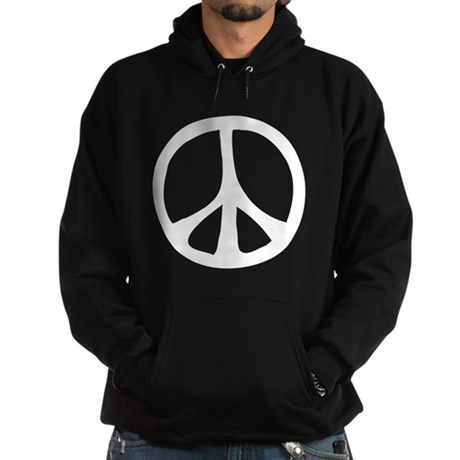 Flowing Peace Sign Men's Dark Hoodie