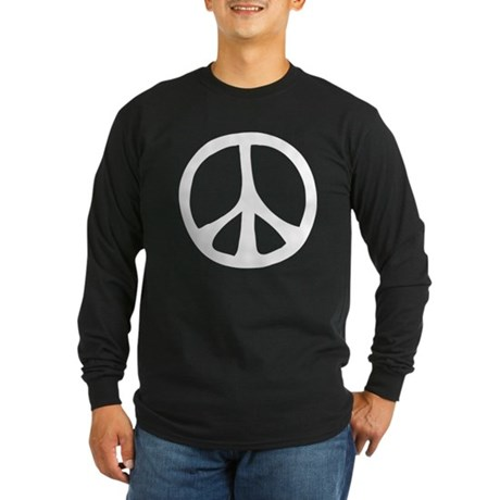 Flowing Peace Sign Men's Long Sleeve Dark T-Shirt