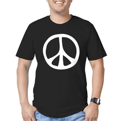 Flowing Peace Sign Men's Fitted Dark T-Shirt