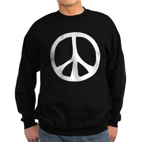 Flowing Peace Sign Men's Dark Sweatshirt