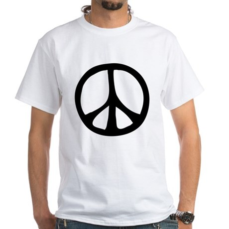 Flowing Peace Sign Men's White T-Shirt