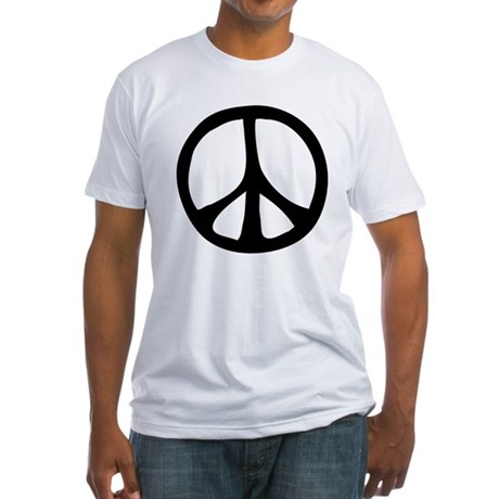 Flowing Peace Sign Men's Fitted T-Shirt