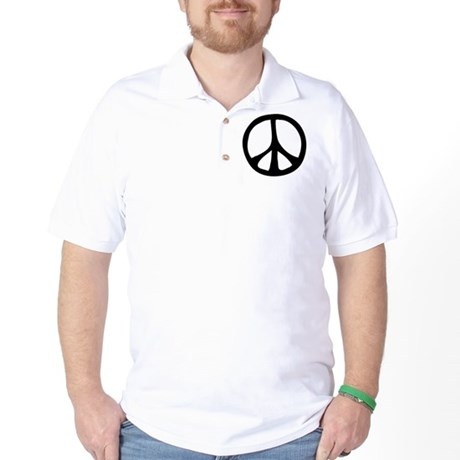 Flowing Peace Sign Golf Shirt