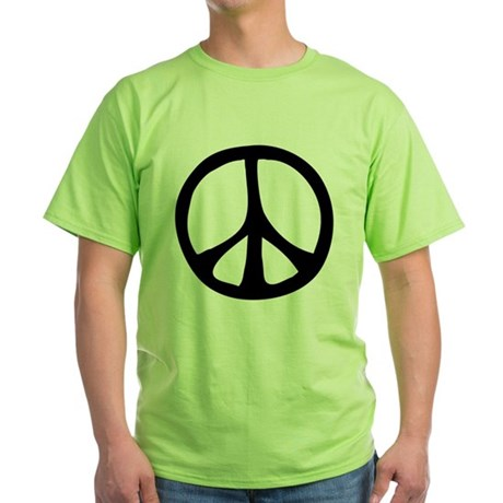 Flowing Peace Sign Green T-Shirt