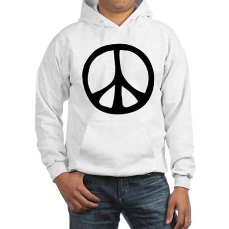 Flowing Peace Sign Men's Hooded Sweatshirt