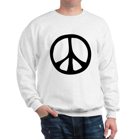 Flowing Peace Sign Men's Sweatshirt