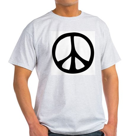 Flowing Peace Sign Men's Light T-Shirt