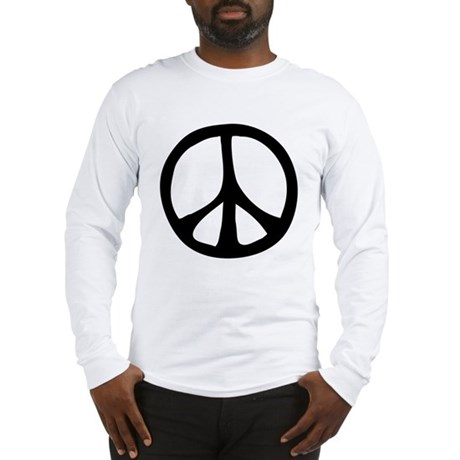 Flowing Peace Sign Men's Long Sleeve T-Shirt