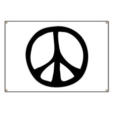 Flowing Peace Sign Banner
