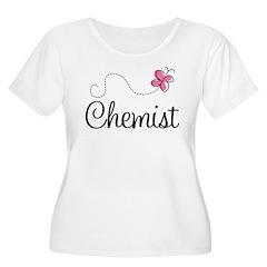 Cute Chemist Women's Plus Size Scoop Neck T-Shirt