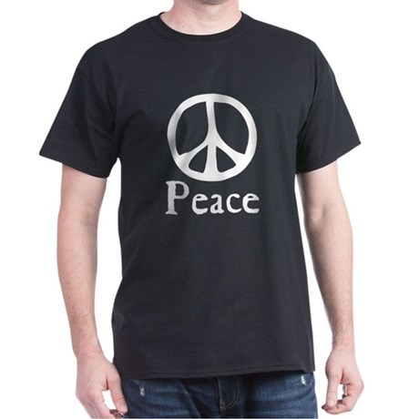 Flowing 'Peace' Sign Men's Dark T-Shirt