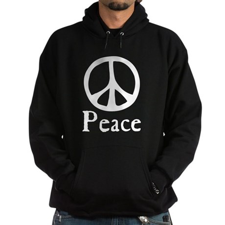 Flowing 'Peace' Sign Men's Dark Hoodie
