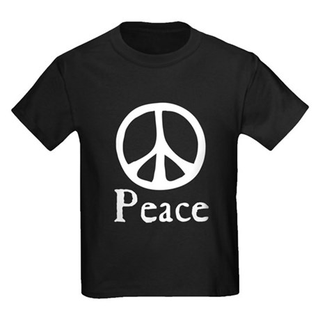 Flowing 'Peace' Sign Kids Dark T-Shirt