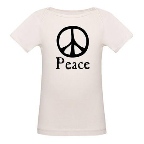 Flowing 'Peace' Sign Organic Baby T-Shirt