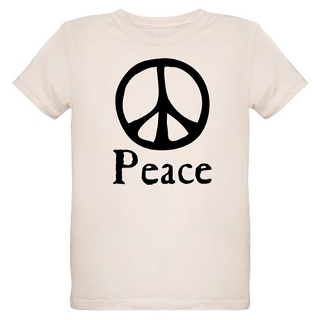 Flowing 'Peace' Sign Organic Kids T-Shirt