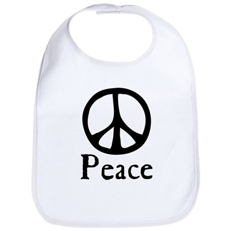 Flowing 'Peace' Sign Baby Bib