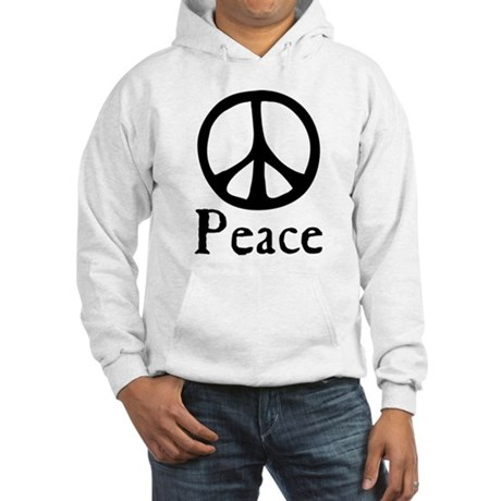 Flowing 'Peace' Sign Men's Hooded Sweatshirt