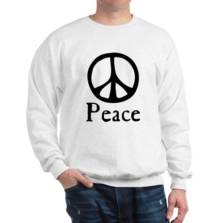 Flowing 'Peace' Sign Men's Sweatshirt