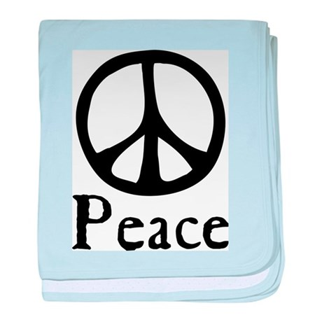 Flowing 'Peace' Sign Infant Blanket Baby Blanket