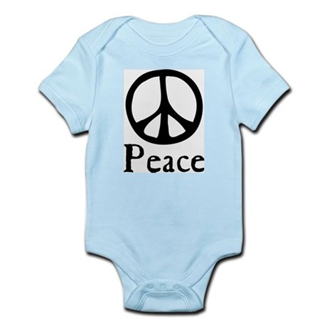 Flowing 'Peace' Sign Infant Bodysuit