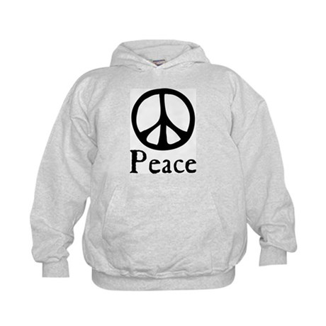 Flowing 'Peace' Sign Kids Hoodie