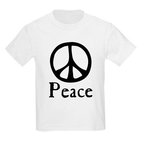 Flowing 'Peace' Sign Kids Light T-Shirt