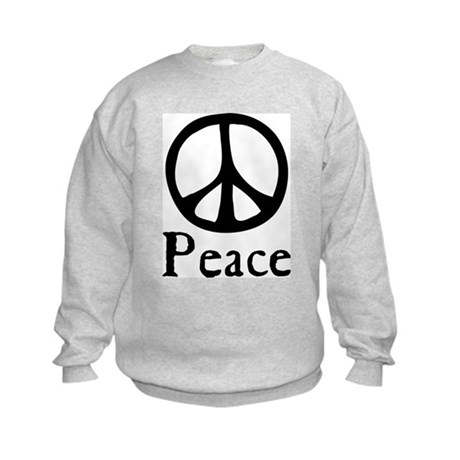 Flowing 'Peace' Sign Kids Sweatshirt