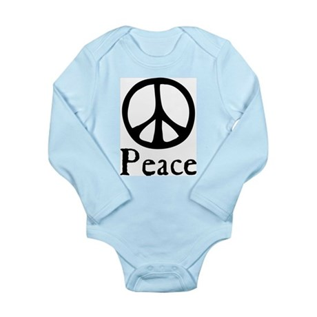 Flowing 'Peace' Sign Long Sleeve Infant Bodysuit