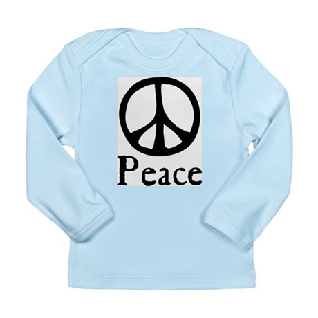 Flowing 'Peace' Sign Long Sleeve Infant T-Shirt
