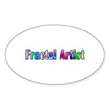 Fractal Artist 2 Oval Decal